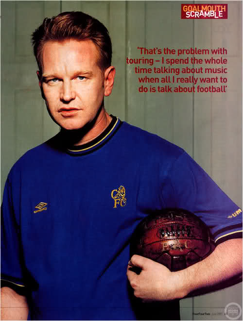 Andy Fletcher supports Arsenal FC
