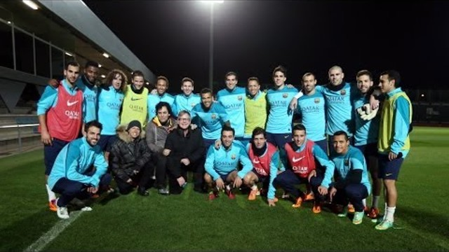 Depeche Mode with Barcelona FC